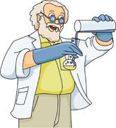 teacher demonstrating chemistry experiment